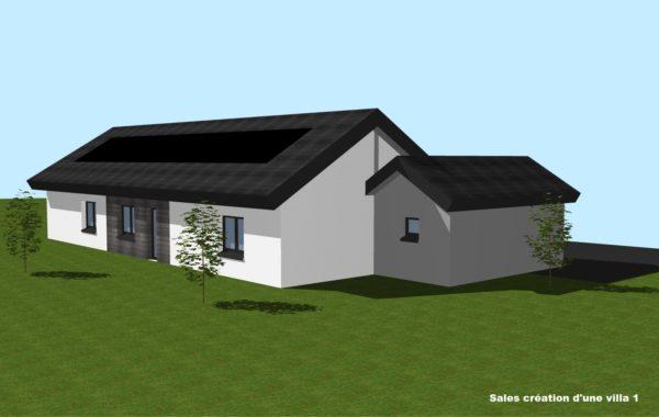 Salles création d'une villa 1