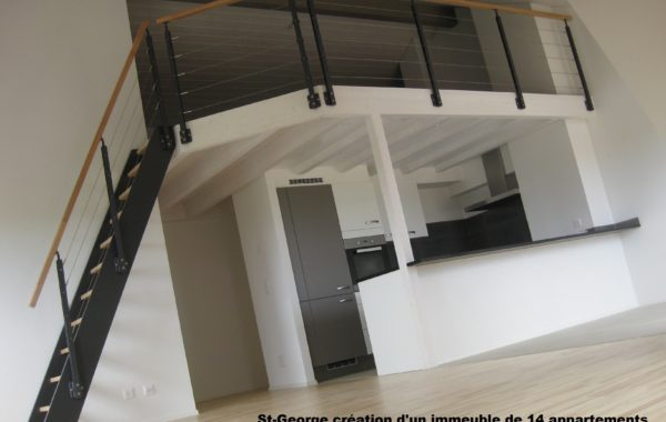 St-George création d'un immeuble de 14 appartements