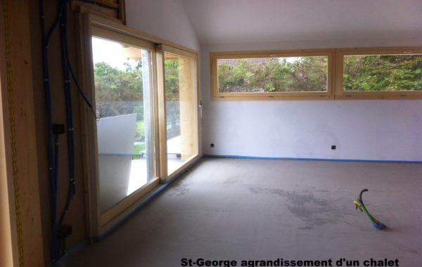 Agrandissement chalet St-George